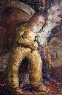 Hubert, Cook, Electric Welder, painting