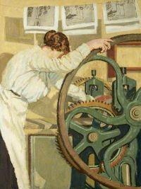 sylvia, gosse, printer, painting